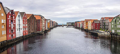 Y120817 Photograph - Trondheim Warehouses - Norway by Thierry Dosogne