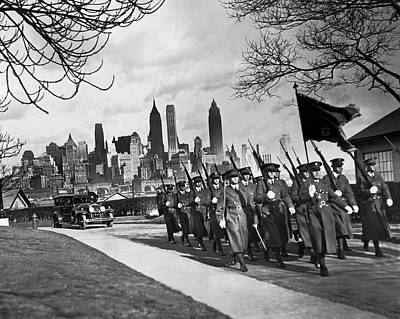 Troops On Governors Island Art Print