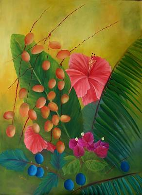 Painting - Tropical Arrangement by Karin Eisermann