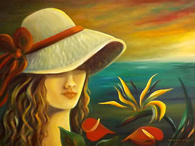 Painting - Tropical Beauty by Gina De Gorna