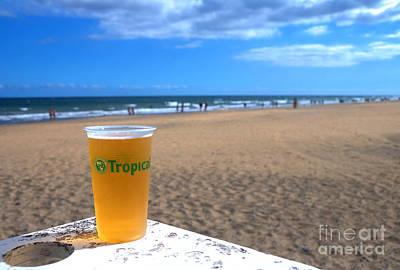 Tropical Beer On The Beach Art Print by Rob Hawkins