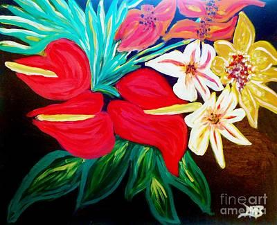 Tropical Bouquet Original by Marie Bulger