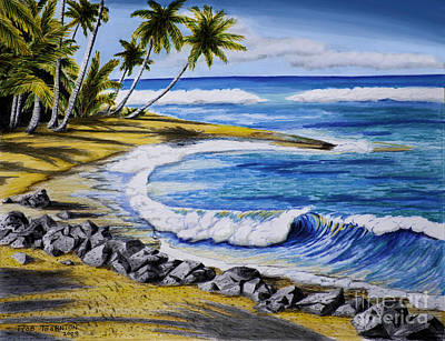 Tropical Cove Art Print by Robert Thornton