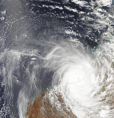 Tropical Cyclone Laurence Over Western Art Print