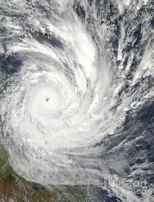 Photograph - Tropical Cyclone Yasi Over Australia by Stocktrek Images