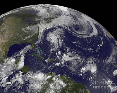 Tropical Cyclones Katia, Lee, Maria Art Print