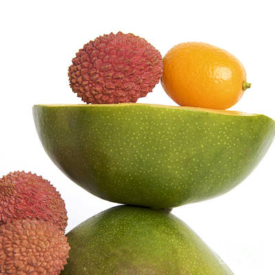 Vitamin-containing Photograph - Tropical Fruits by Bernard Jaubert