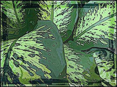 Tropical Green Art Print by Mindy Newman