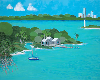Tropical Idyll Art Print