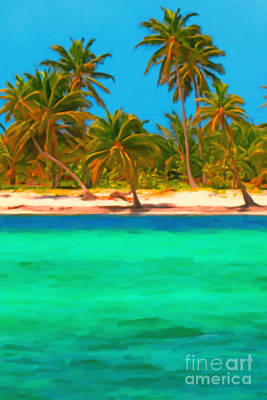 Tropical Island 5 - Painterly Art Print by Wingsdomain Art and Photography