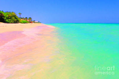 Tropical Island 7 - Painterly Art Print by Wingsdomain Art and Photography