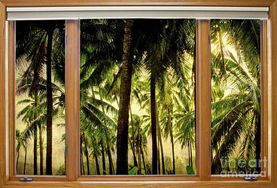 Photograph - Tropical Jungle Paradise Window Scenic View by James BO Insogna