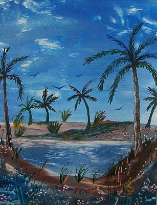 Tropical Lagoon Original by Moe Hussain