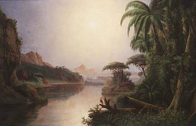 Tropical Landscape Print by Norton Bush