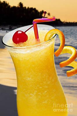 Tropical Orange Drink Art Print by Elena Elisseeva