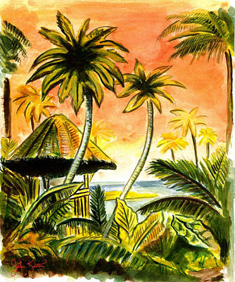 Tropical Skies Art Print by John Keaton