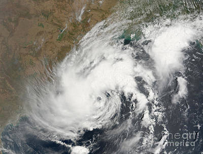 Tropical Storm Bijli Draped The East Art Print