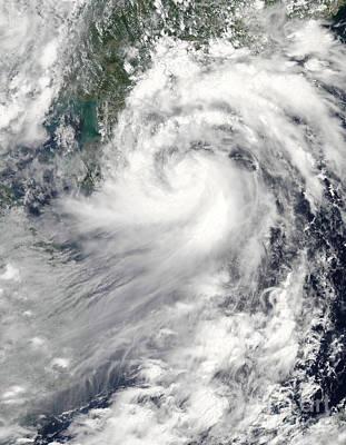Tropical Storm Chanthu Art Print