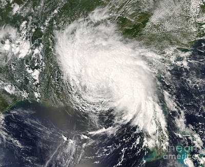 Landmass Photograph - Tropical Storm Fay Ver The Southeastern by Stocktrek Images
