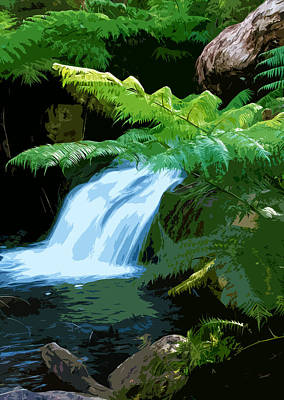 Tropical Stream Waterfall Original