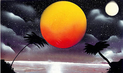 Painting - Tropical Sunset by Marc Chambers