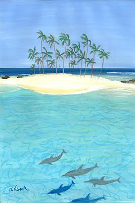 Tropical Tranquility  Art Print by Jackie Novak