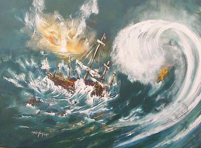 Trouble In The Ocean Art Print