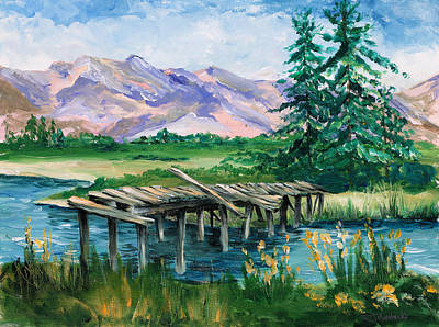 Troubled Bridge Over Water Art Print