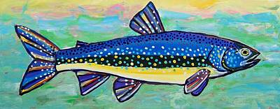 Painting - Trout by Krista Ouellette
