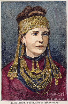 Ancient Earrings Photograph - Troy: Schliemann by Granger