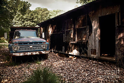 Truck And Barn Art Print by Susan Isakson