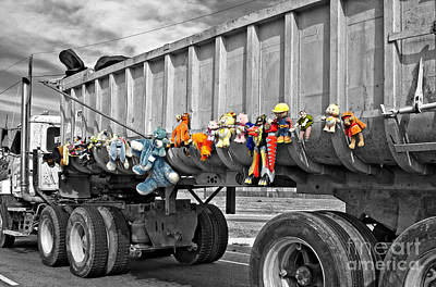 Photograph - Truck And Dolls With Selective Coloring by Kathleen K Parker
