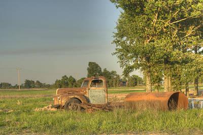 Homesickness Photograph - Truck And Tank 38 by Douglas Barnett
