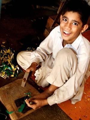 Photograph - Truck Artist Boy by Fareeha Khawaja