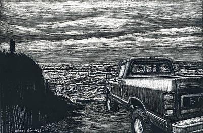 Truck At Nantucket Art Print by Robert Goudreau