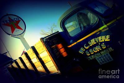 Truck On Route 66 Art Print by Susanne Van Hulst