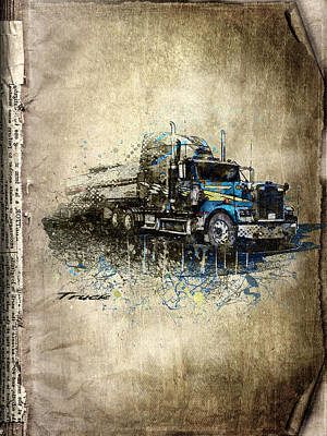 Collectables Mixed Media - Truck by Svetlana Sewell