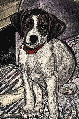 Trudy May The Puppy Art Print by Robert Goudreau