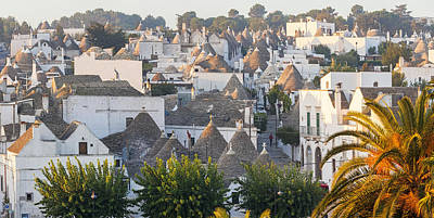 Alberobello Photograph - Trulli Houses; Alberobello; Apulia; Puglia; Italy by Peter Adams