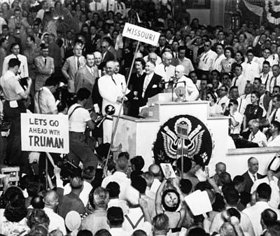 Great Seal Of The United States Photograph - Truman Presidency. Left Of Podium by Everett