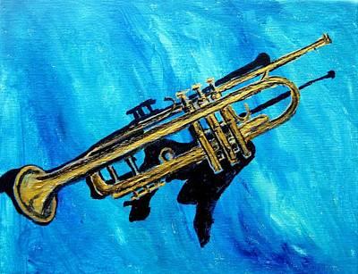Trumpet Art Print by Amanda Dinan