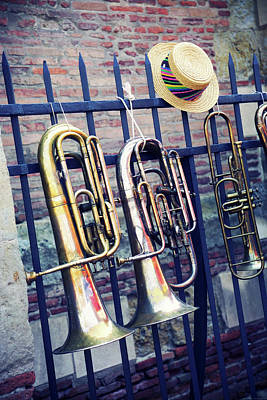 Flea Market Photograph - Trumpet by Christian Rivière