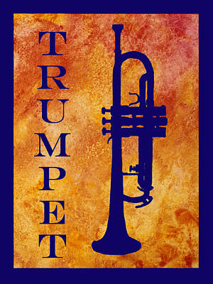 Marching Band Digital Art - Trumpet by Jenny Armitage
