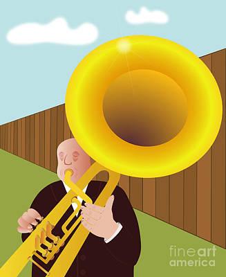Trumpet Digital Art - Trumpeter by Michal Boubin