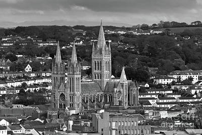 Photograph - Truro Cathedral Mono by Brian Roscorla
