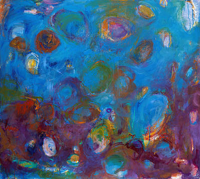 Outer Space Abstract Painting - Truth In Dreams I by Johnathan Harris