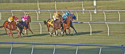 Horse Racing Photograph - Trying by Betsy Knapp