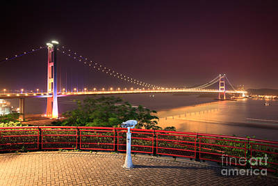 Island Stays Photograph - Tsing Ma Bridge by MotHaiBaPhoto Prints