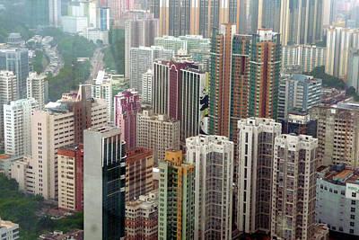 Hong Kong Photograph - Tsuen Wan Skyscape by Chris Foulger
