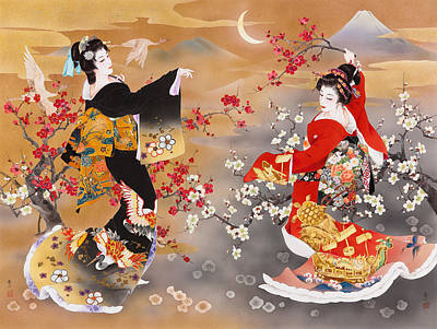 Kimonos Photograph - Tsura Kame by Haruyo Morita